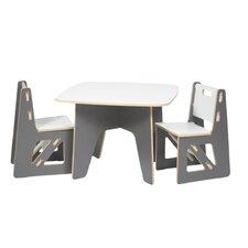 Halle Kids 3 Piece Square Table & Chair Set