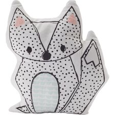 Sparrow Fox Throw Pillow