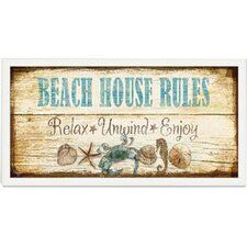 'Beach House Welcome' Framed Vintage Advertisement