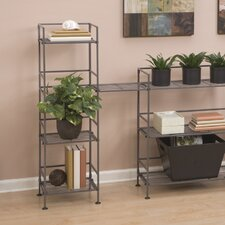 Iron Square Tower 44.25 H Four Shelving Unit by Rebrilliant