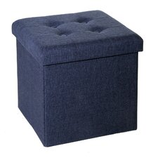 Zosia Tufted Foldable Storage Cube Ottoman