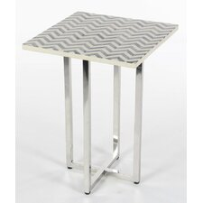 Cullins Stainless Steel Inlay End Table