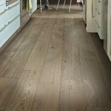 "Scottsmoor Oak 7.5"" Engineered White Oak Hardwood Flooring in Gray"