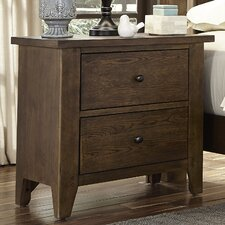 Methuen 2 Drawer Night Stand by Loon Peak