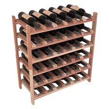 Karnes Redwood Stackable 36 Bottle Floor Wine Rack