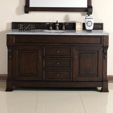 Bedrock 60 Single Burnished Mahogany Bathroom Vanity Set with Drawers by Darby Home Co