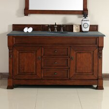 Bedrock 60 Single Warm Cherry Bathroom Vanity Set with Drawers by Darby Home Co
