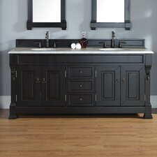 Bedrock 72 Double Antique Black Bathroom Vanity Set with Drawers by Darby Home Co