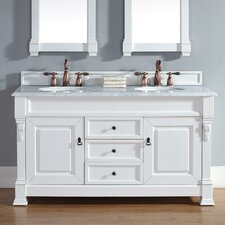 Bedrock 60 Double Cottage White Bathroom Vanity Set with Drawers by Darby Home Co