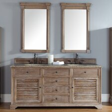 Belfield 72 Double Driftwood Bathroom Vanity Set by Darby Home Co