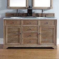 Belfield 60 Double Driftwood Bathroom Vanity Set by Darby Home Co