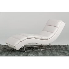 Bandera Leather Chaise Lounge