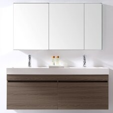 "Zuri 55"" Double Bathroom Vanity Set"