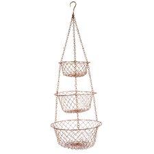 Susannah Copper Hanging Fruit Basket