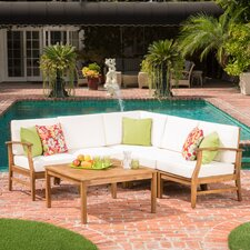 Pardue Wooden 6 Piece Seating Group