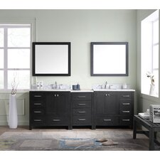 Stoneham 90 Double Bathroom Vanity Cabinet Set with Mirror by Latitude Run