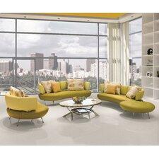 Bosco 4 Piece Modern Top Grain Leather Sofa Set