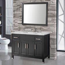 Denault 60 Single Sink Bathroom Vanity Set with Mirror by Brayden Studio
