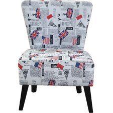Dawson Flag Pattern Side Chair by Zipcode Design