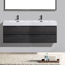 Tenafly Wall Mount 72 Double Modern Bathroom Vanity Set by Wade Logan