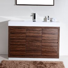 "Tenafly 48"" Single Free Standing Modern Bathroom Vanity Set"
