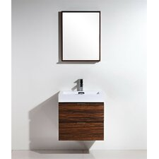 "Tenafly 24"" Single Wall Mount Modern Bathroom Vanity Set"