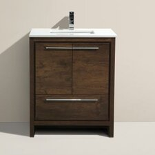 "Bosley 30"" Single Modern Bathroom Vanity Set"