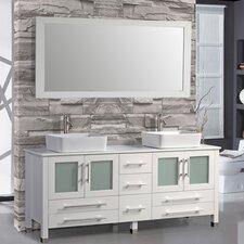 Bosarge 61 Double Bathroom Vanity Set with Mirror by Mercury Row
