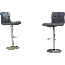 Winford Adjustable Height Swivel Bar Stool (Set of 2)