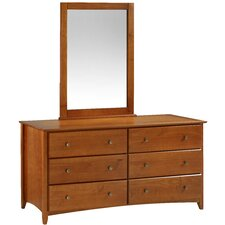 Axelrod 6 Drawer Dresser with Mirror by Red Barrel Studio