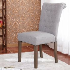 Luxurious Fabric Dining Parsons Chair (Set of 2)