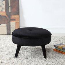 Mari Round Velvet Ottoman by Ebern Designs