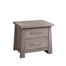 Fusion 2 Drawer Nightstand by Home Image