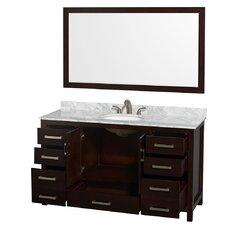 Sheffield 60 Single Espresso Bathroom Vanity Set with Mirror by Wyndham Collection