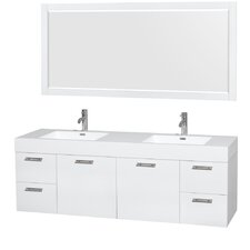 Amare 72 Double Bathroom Vanity Set with Mirror by Wyndham Collection