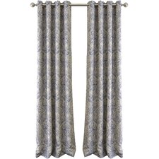 Whitley Julianne Damask Blackout Grommet Single Curtain Panel