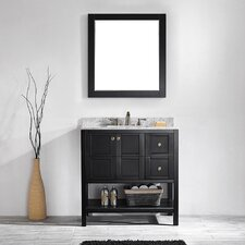 "Caldwell 36"" Single Vanity Set with Mirror"