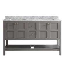 "Caldwell 60"" Double Bathroom Vanity Set"