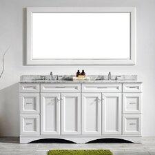 Pembroke 72 Double Bathroom Vanity Set with Mirror by Latitude Run