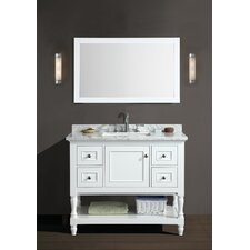 "Amie 42"" Single Bathroom Vanity Set with Mirror"