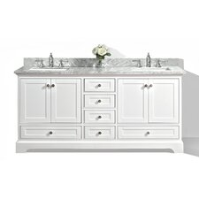 Michael 72 Bath Vanity Set with Italian Carrara White Marble Vanity Top by Darby Home Co