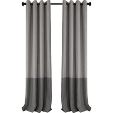 Arrowsmith Striped Blackout Thermal Grommet Single Curtain Panel