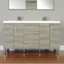 Waldwick 56 Double Modern Bathroom Vanity Set by Wade Logan