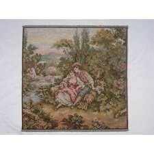 Couple by the Riverbank Woven Tapestry