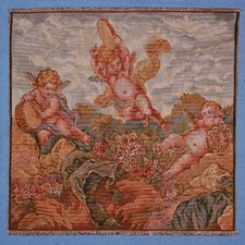 3 Heavenly Angels Woven Tapestry