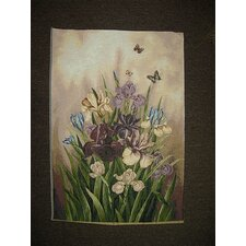 Flower Paradise with Butterflies Scenery Woven Tapestry