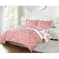 Byrd 4 Piece Twin Reversible Duvet Set