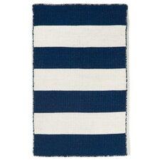 Torington Rugby Stripe Hand-Woven Navy Indoor/Outdoor Area Rug