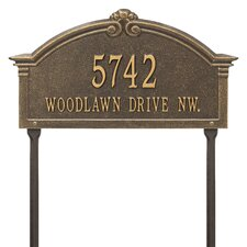 Roselyn Arch Personalized Grande 2-Line Lawn Address Sign