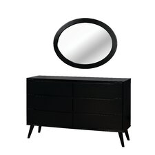 Polick 6 Drawer Dresser with Mirror